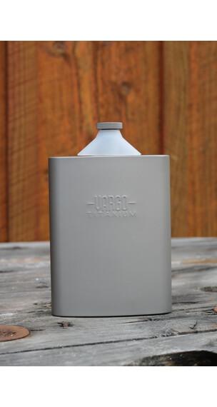 Vargo Titanium heupfles Drinkfles 240ml grijs